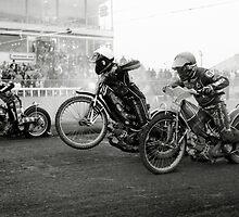 Speedway - Accelerating away II by Richard Flint