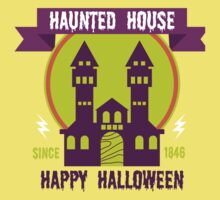 Haunted house Happy Halloween One Piece - Short Sleeve