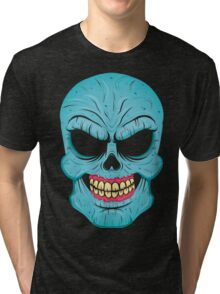 Blue zombie Halloween Tri-blend T-Shirt