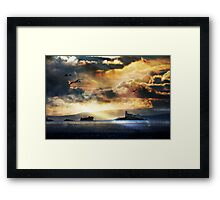 Seeking the Harmony in a Complex Sky Framed Print