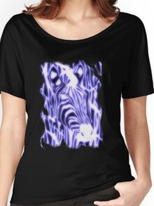 'Electric Zebra' (large logo) Women's Relaxed Fit T-Shirt
