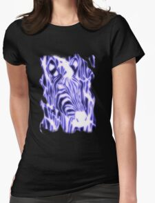 'Electric Zebra' (large logo) Womens Fitted T-Shirt