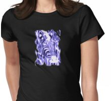 Electric Zebra (small logo) Womens Fitted T-Shirt