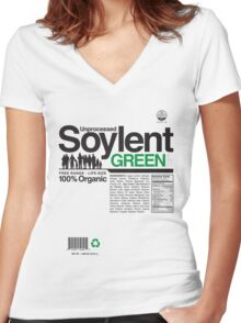 Contents: Unprocessed Soylent Green Women's Fitted V-Neck T-Shirt