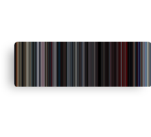 Moviebarcode: 2001: A Space Odyssey (1968) [Simplified Colors] Canvas Print