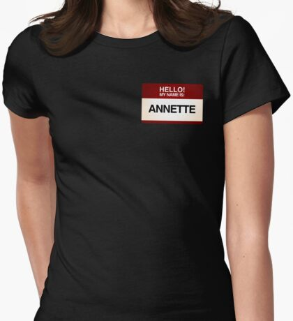 NAMETAG TEES - ANNETTE Womens Fitted T-Shirt