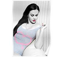 Tina - Pink & Grey Body Poster