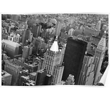 New York City view from the Empire State Building Poster
