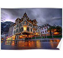 Typical Swiss house,Interlaken Poster