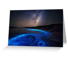 Milky Way Over Sea Sparkle Bay Greeting Card