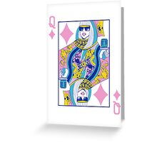 Q of Glam Greeting Card