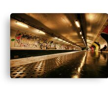 Metro Station, Paris Canvas Print