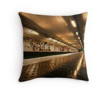 Metro Station, Paris Throw Pillow
