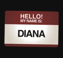 NAMETAG TEES - DIANA by webart