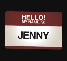 NAMETAG TEES - JENNY by webart