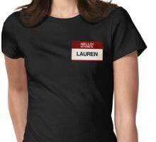 NAMETAG TEES - LAUREN Womens Fitted T-Shirt