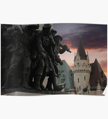 Memorial & Chateau Poster