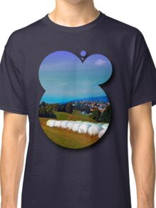 Hay bales, clouds and some scenery Classic T-Shirt