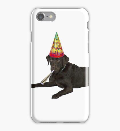 Chocolate Labrador Retriever Birthday iPhone Case/Skin