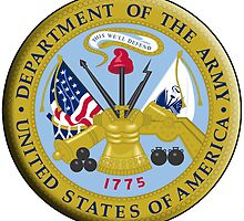 American Army, ARMY, ARMIES, USA, United States Army, Emblem of the United States, Department of the Army by TOM HILL - Designer