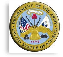 American Army, ARMY, ARMIES, USA, United States Army, Emblem of the United States, Department of the Army Canvas Print