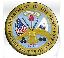 American Army, ARMY, ARMIES, USA, United States Army, Emblem of the United States, Department of the Army Poster