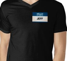 NAMETAG TEES - JEFF Mens V-Neck T-Shirt
