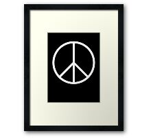 Ban the Bomb, Peace, Old School, Symbol, CND, Trident, Campaign for Nuclear Disarmament, White Framed Print
