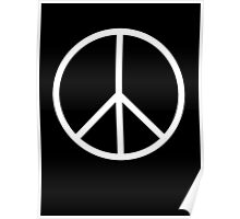 Ban the Bomb, Peace, Old School, Symbol, CND, Trident, Campaign for Nuclear Disarmament, White Poster