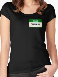NAMETAG TEES - CHARLIE Women's Fitted Scoop T-Shirt