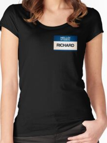 NAMETAG TEES - RICHARD Women's Fitted Scoop T-Shirt