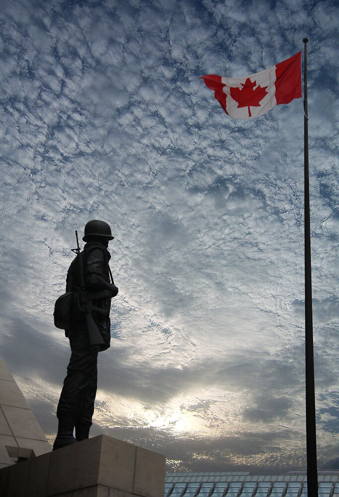 Canadian Soldier - Fallen Soldier Memorial, Ottawa ON by Benjamin Brauer