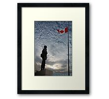 Canadian Soldier - Fallen Soldier Memorial, Ottawa ON Framed Print