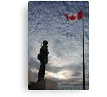 Canadian Soldier - Fallen Soldier Memorial, Ottawa ON Canvas Print
