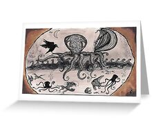 The Octopus Voyager in the briny deep Greeting Card
