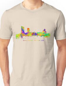 Skyline of Grand Rapids  Michigan USA Unisex T-Shirt