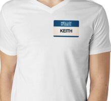 NAMETAG TEES - KEITH Mens V-Neck T-Shirt