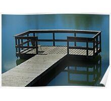 Floating Dock on a Lake Poster