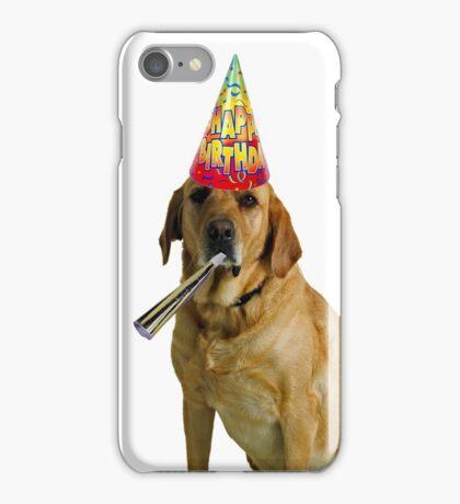 Yellow Labrador Retriever Birthday iPhone Case/Skin