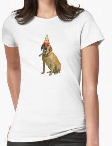 Yellow Labrador Retriever Birthday Womens Fitted T-Shirt
