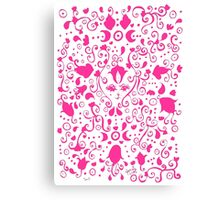 Feline (Pink and White) Canvas Print