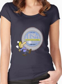 usa california  tshirt by rogers bros Women's Fitted Scoop T-Shirt