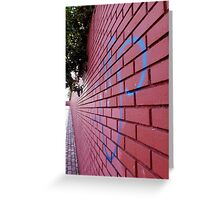 Red Perspective Greeting Card