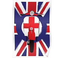 Vintage scooter with St George Cross Poster