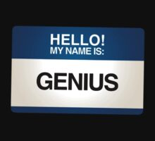 NAMETAG TEES - GENIUS by webart