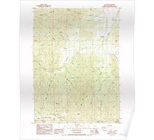 USGS Topo Map Oregon Williams 282106 1986 24000 Poster