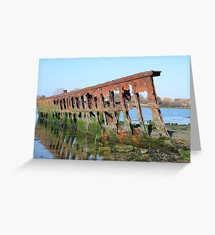 DECAY - OLD SHIPWRECK Greeting Card