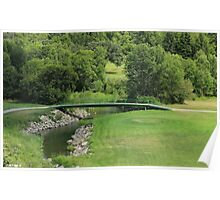 Bridge on a Golf Course Poster