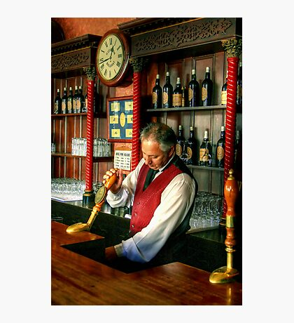The Barman at the United States Hotel  Photographic Print