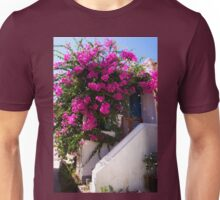 Bougainvillea in a Nimborio Lane Unisex T-Shirt